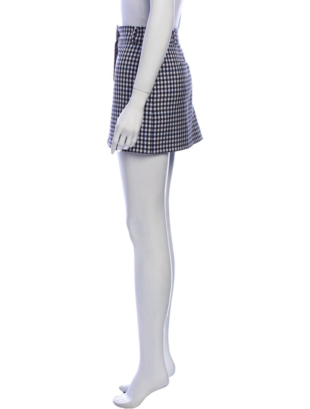 Tibi Plaid Print Mini Skirt Black - image 2