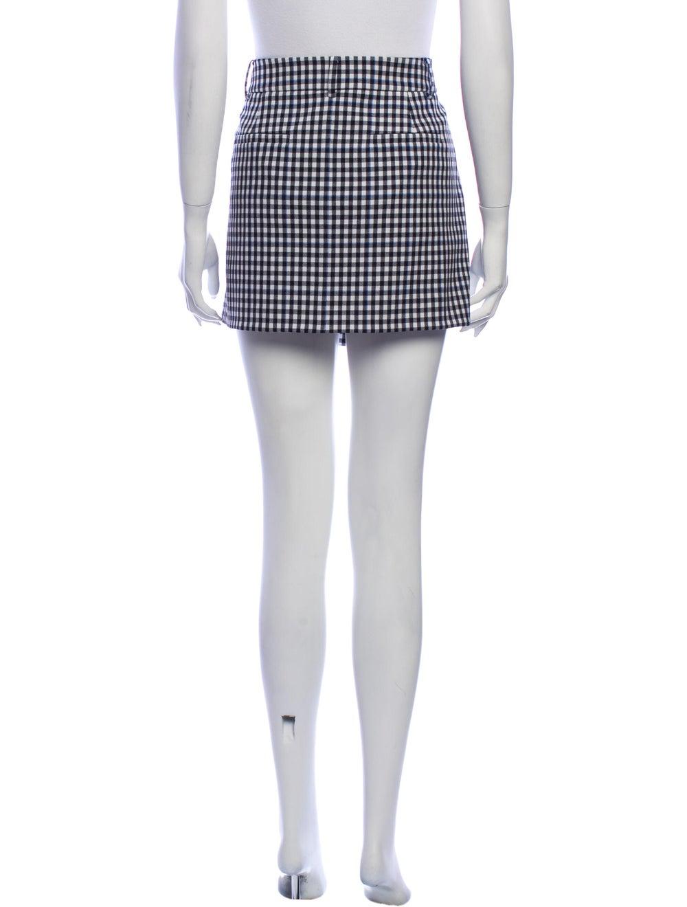 Tibi Plaid Print Mini Skirt Black - image 3