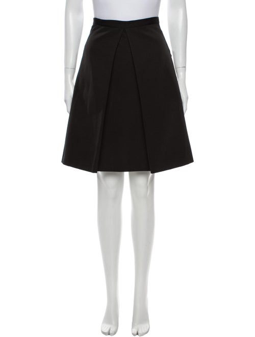 Tibi Knee-Length Skirt Black - image 1