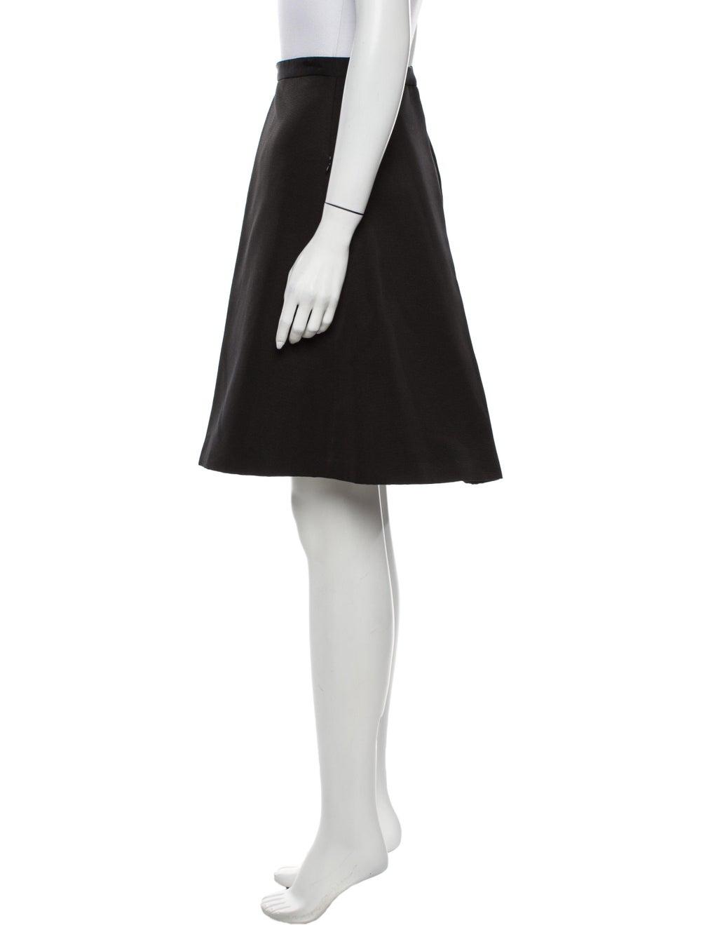 Tibi Knee-Length Skirt Black - image 2
