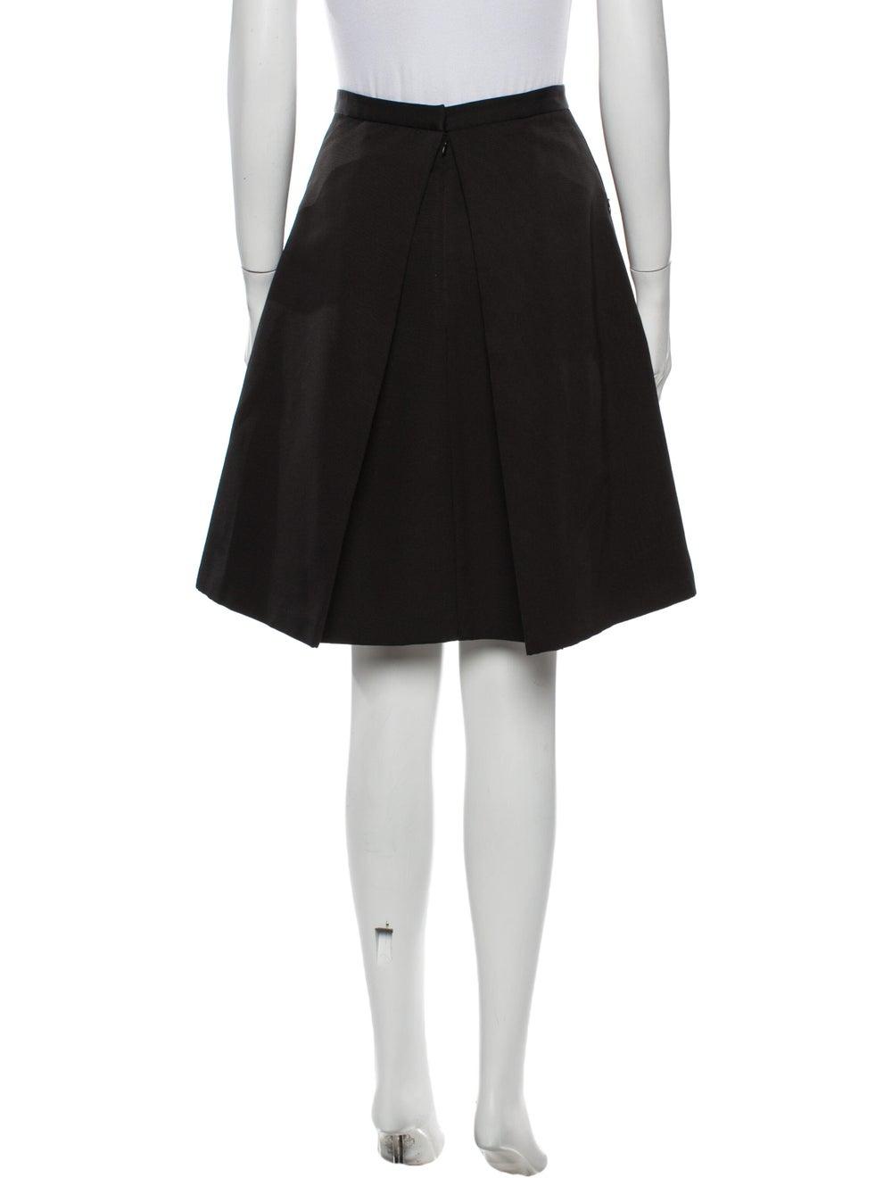Tibi Knee-Length Skirt Black - image 3