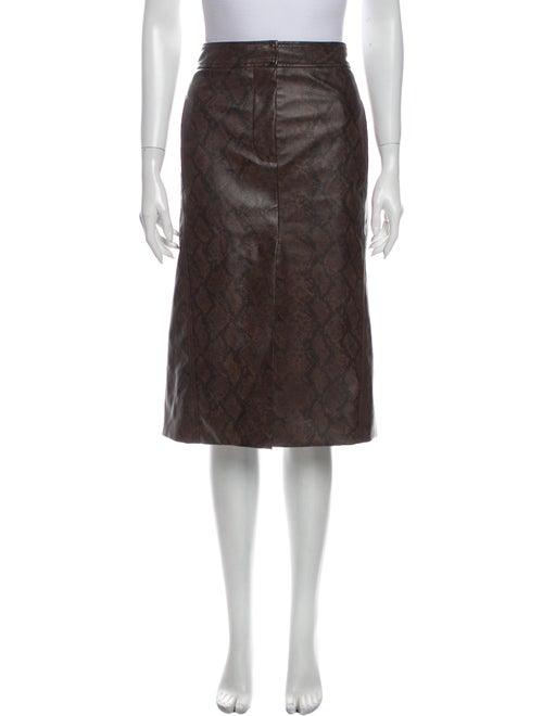 Tibi Knee-Length Skirt Brown - image 1