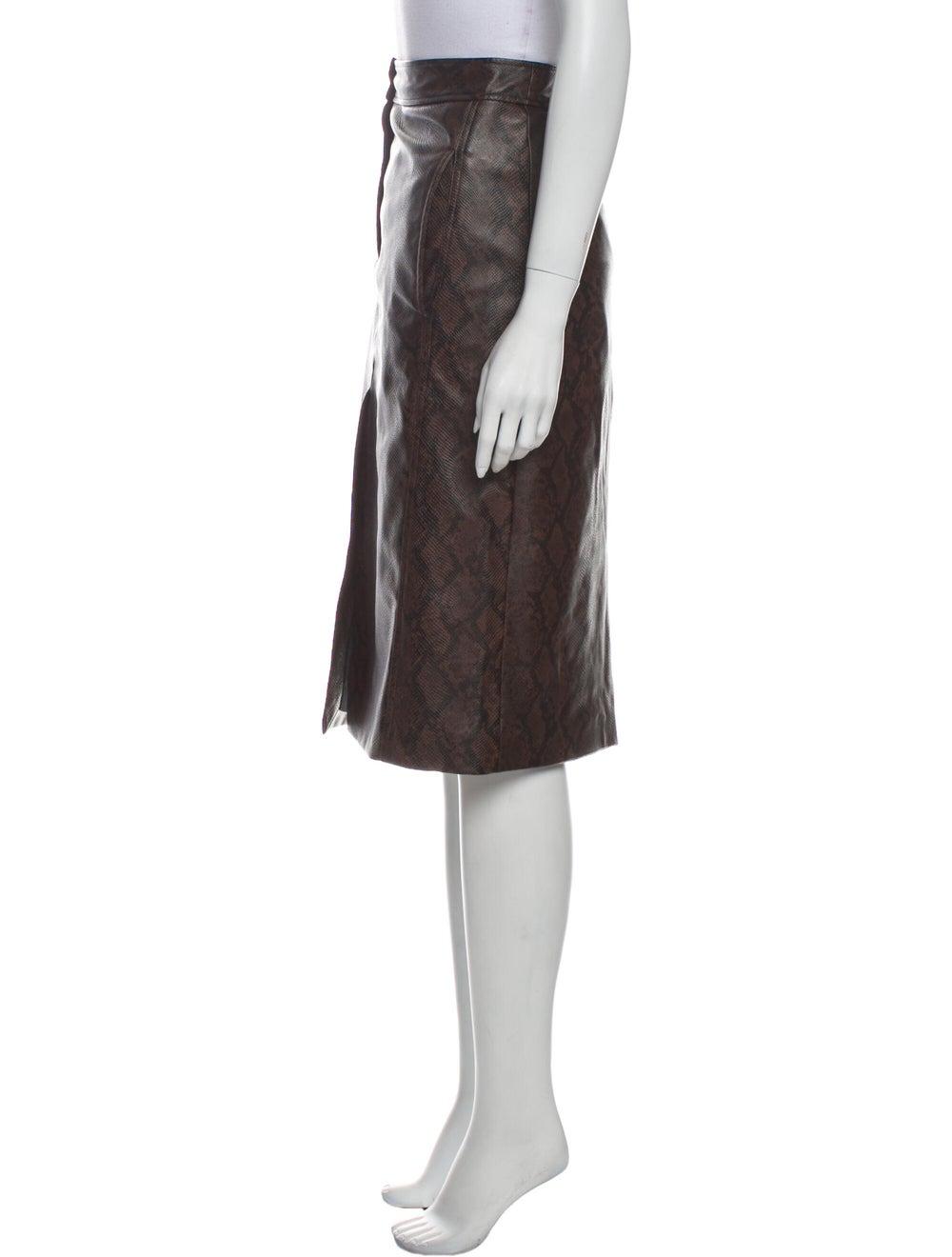 Tibi Knee-Length Skirt Brown - image 2
