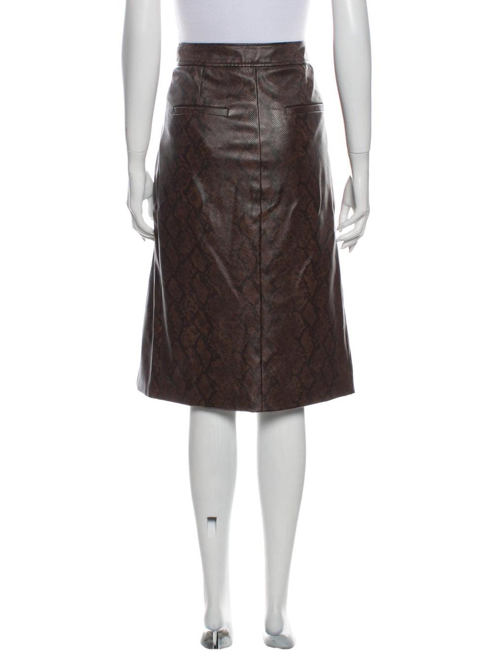Tibi Knee-Length Skirt Brown - image 3