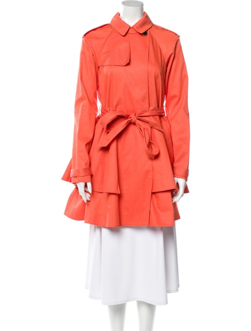 Tibi Trench Coat Orange