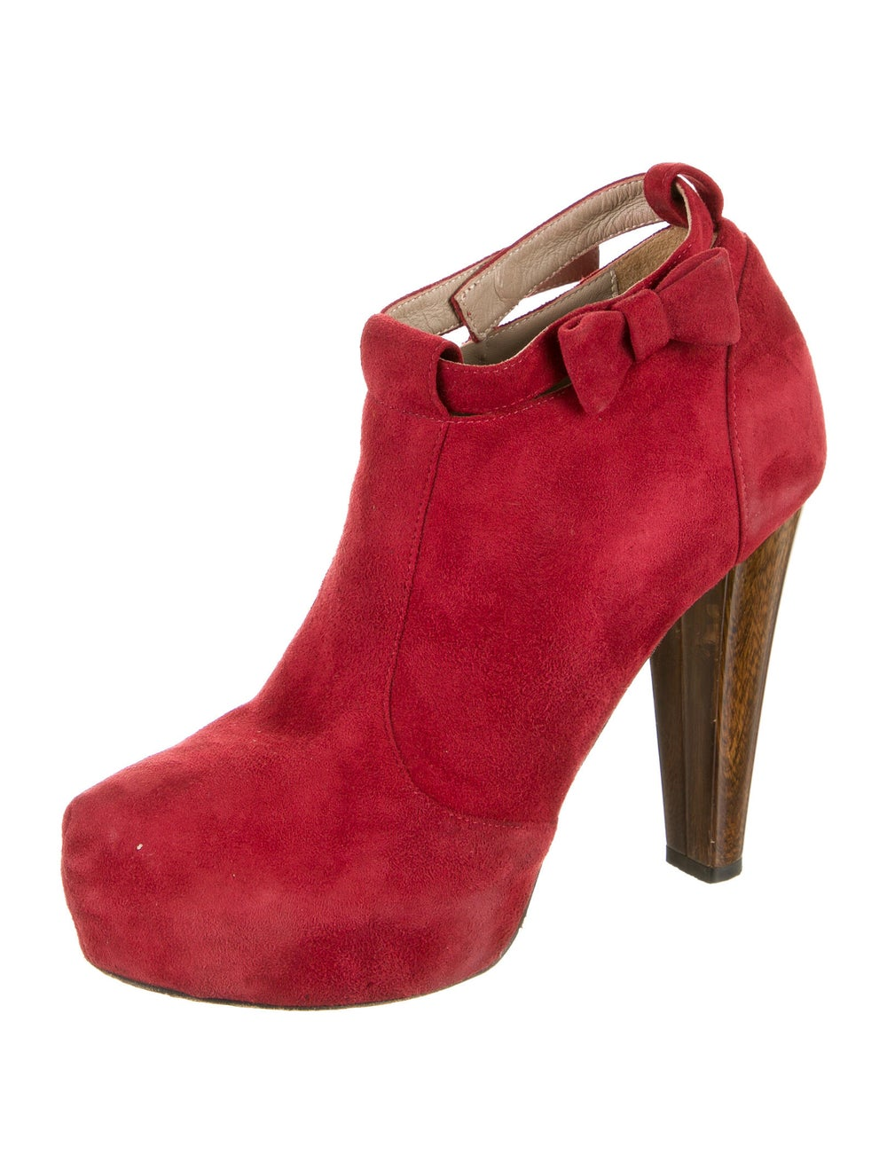 Tibi Suede Boots Red - image 2
