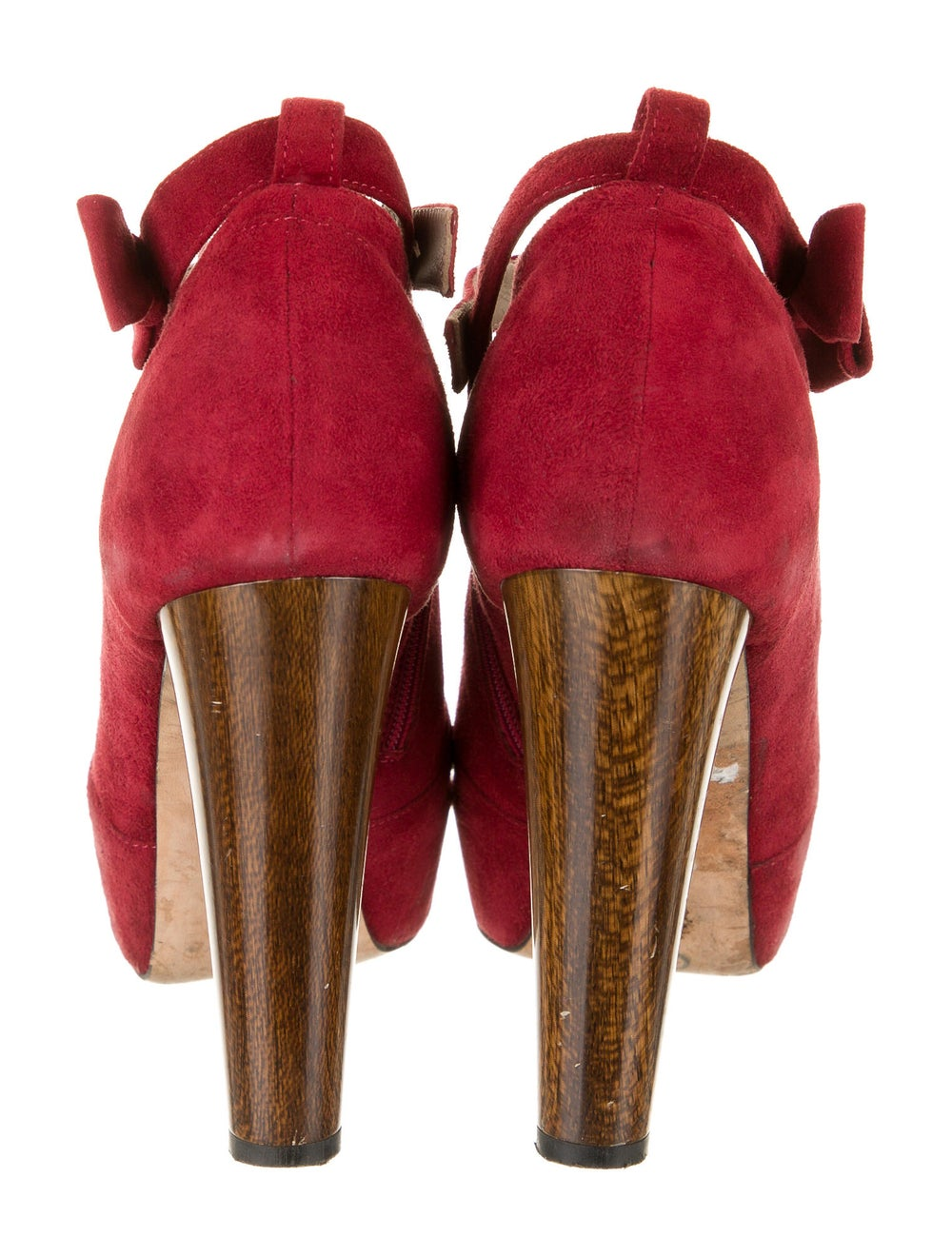 Tibi Suede Boots Red - image 4