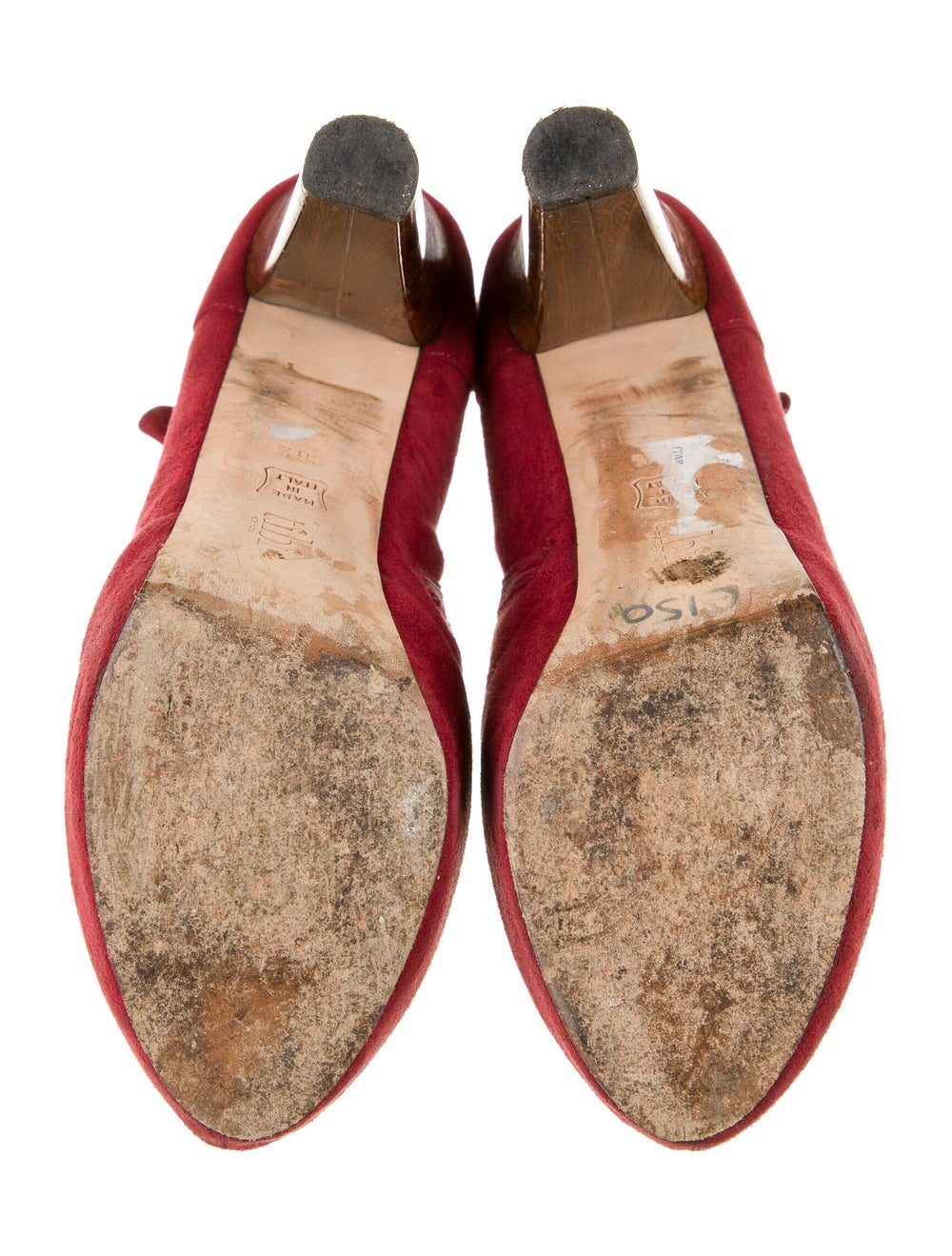 Tibi Suede Boots Red - image 5
