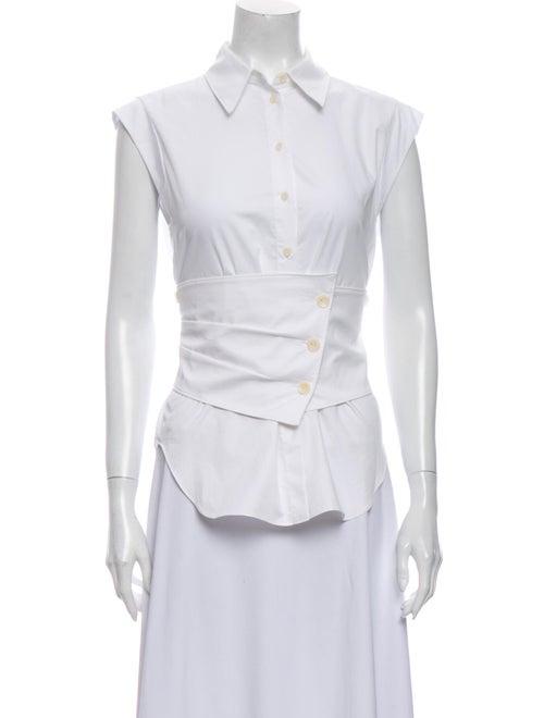 Tibi Sleeveless Button-Up Top w/ Tags White