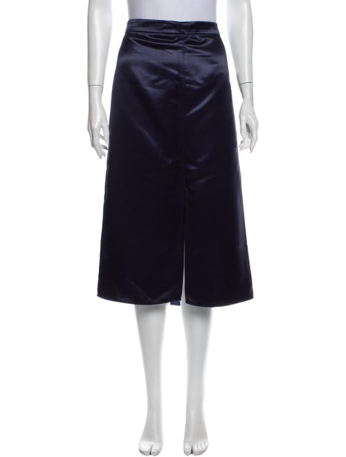 Tibi Midi Length Skirt Blue