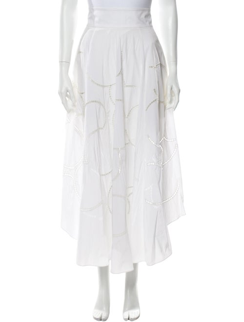 Tibi Midi Length Skirt White