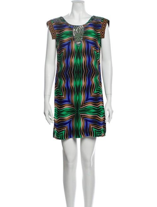 Tibi Silk Mini Dress Black - image 1
