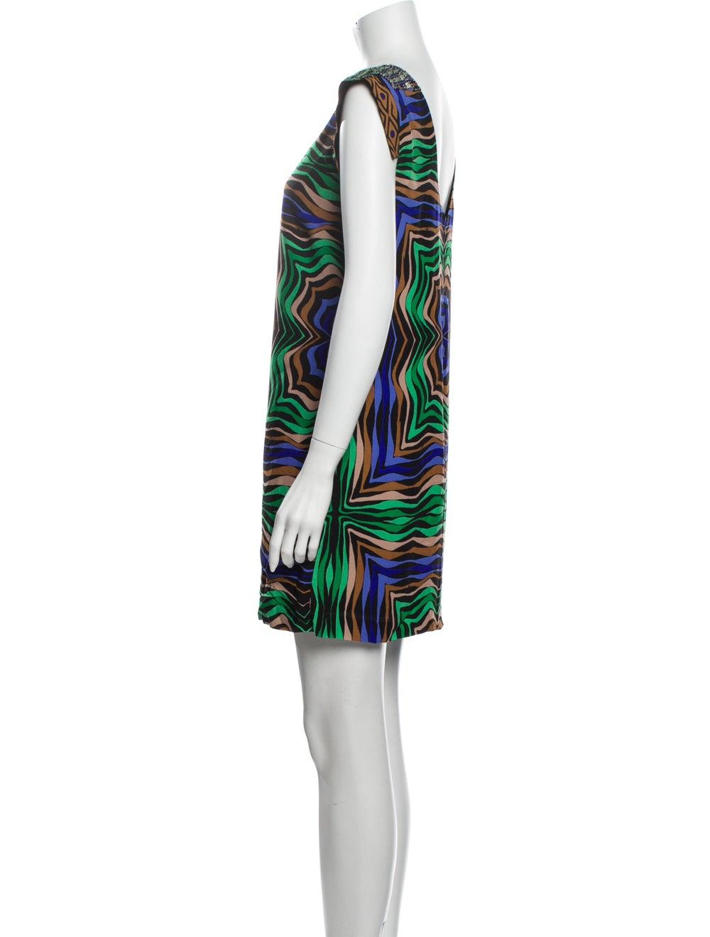 Tibi Silk Mini Dress Black - image 2