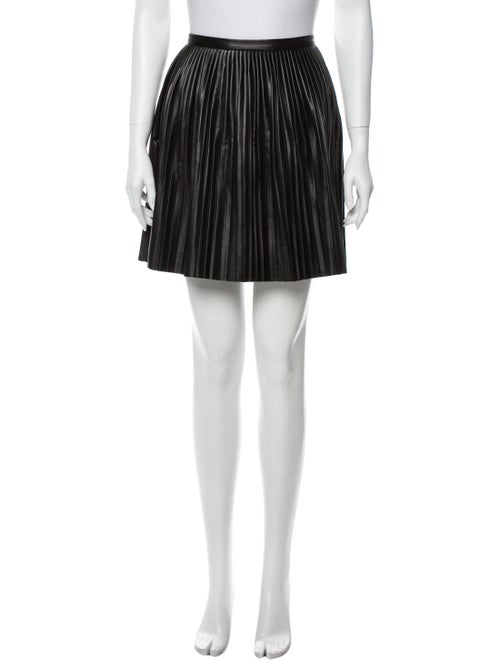 Tibi Pleated Accents Mini Skirt Black