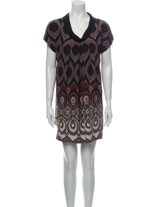 Tibi Silk Mini Dress Black