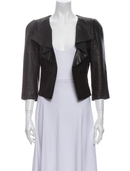 Tibi Leather Jacket Black