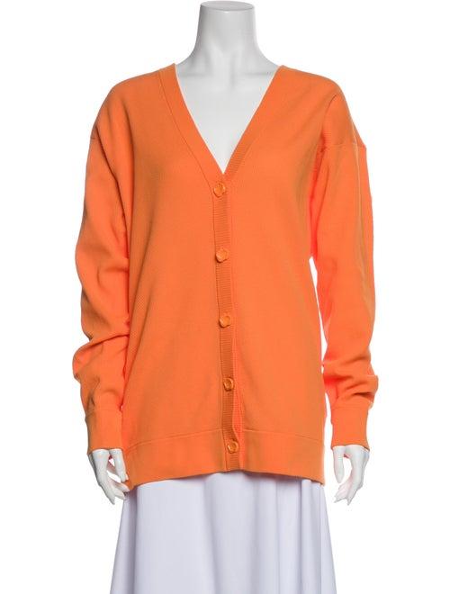 Tibi V-Neck Sweater Orange