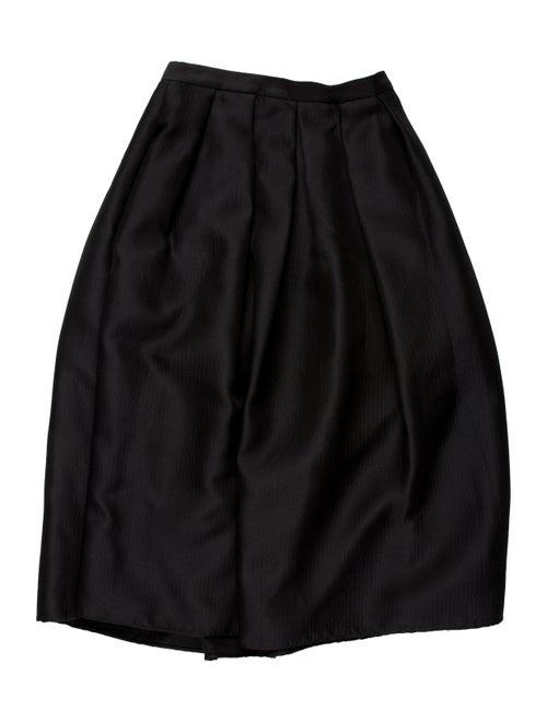 Tibi Midi Length Skirt Black