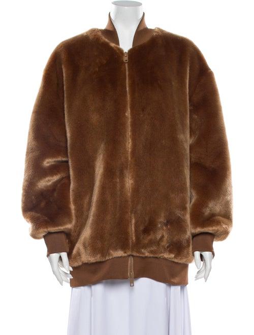 Tibi Faux Fur Jacket Brown