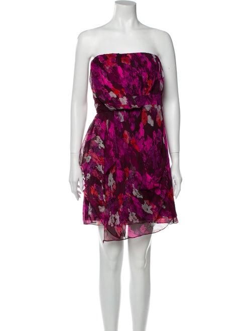 Tibi Silk Mini Dress Purple
