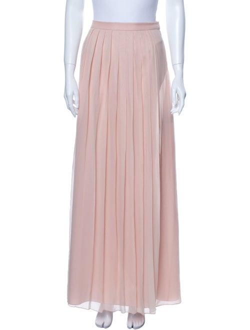 Tibi Silk Long Skirt Pink