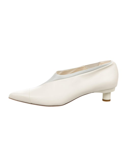Tibi Leather Boots White