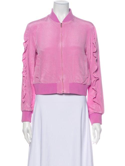 Tibi Silk Bomber Jacket Pink