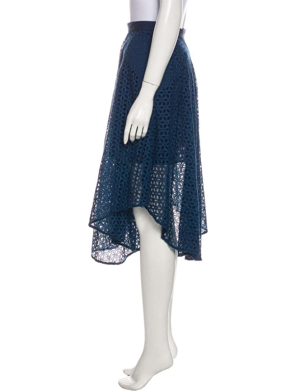 Tibi Lace Pattern Midi Length Skirt Blue - image 2