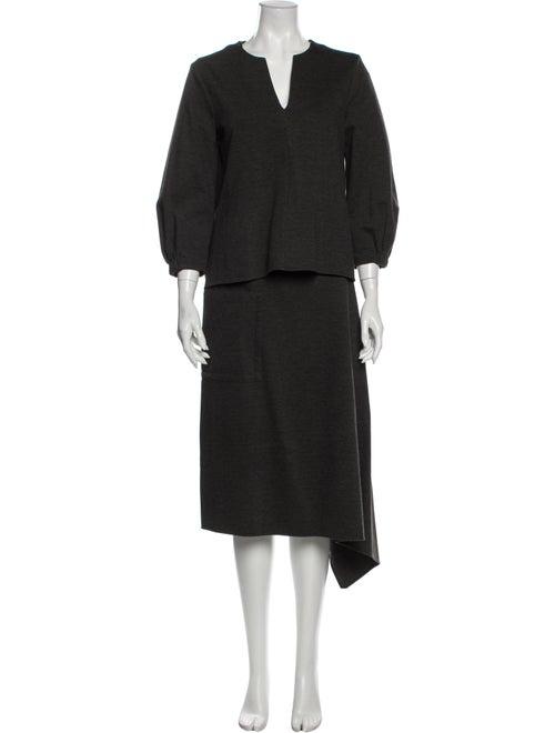 Tibi Skirt Set Grey
