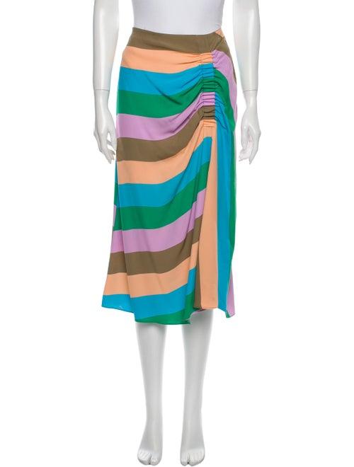 Tibi Striped Midi Length Skirt