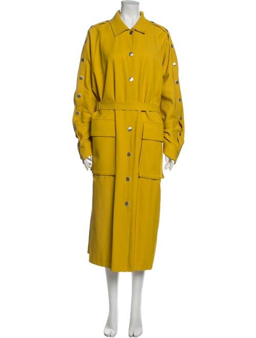 Tibi Trench Coat Yellow