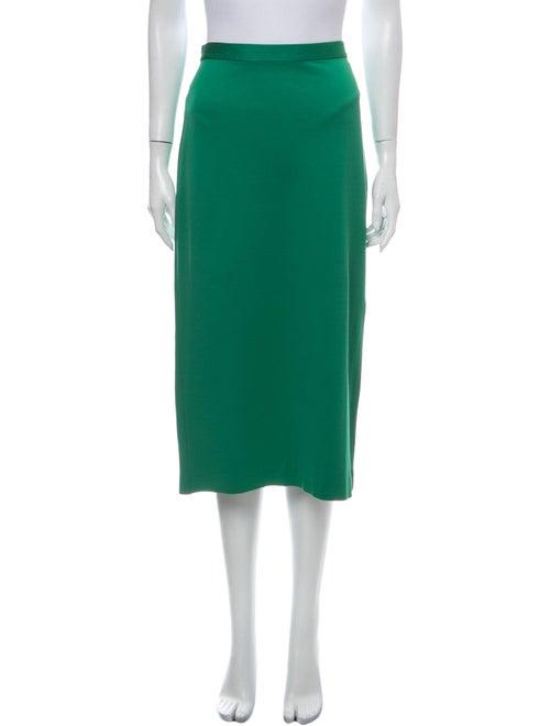 Tibi Midi Length Skirt Green