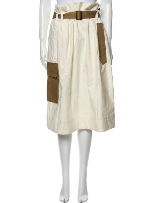 Tibi Midi Length Skirt Brown