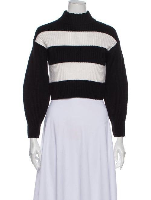 Tibi Merino Wool Striped Sweater Wool