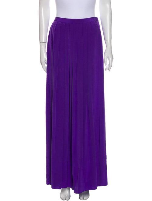 Tibi Silk Long Skirt Purple