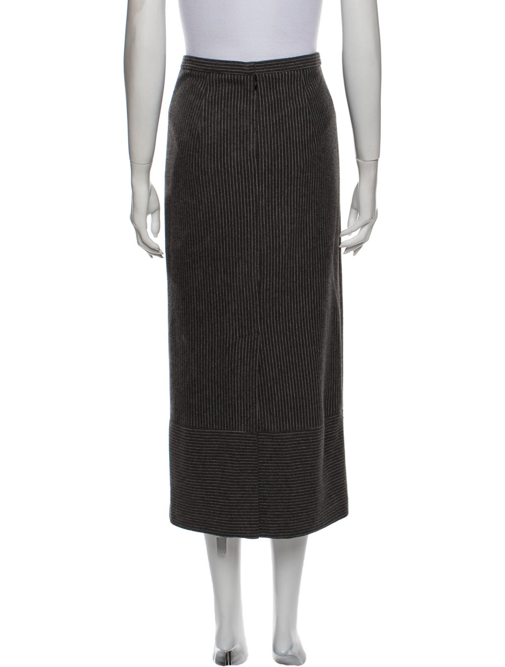 Tibi Striped Midi Length Skirt Grey - image 3