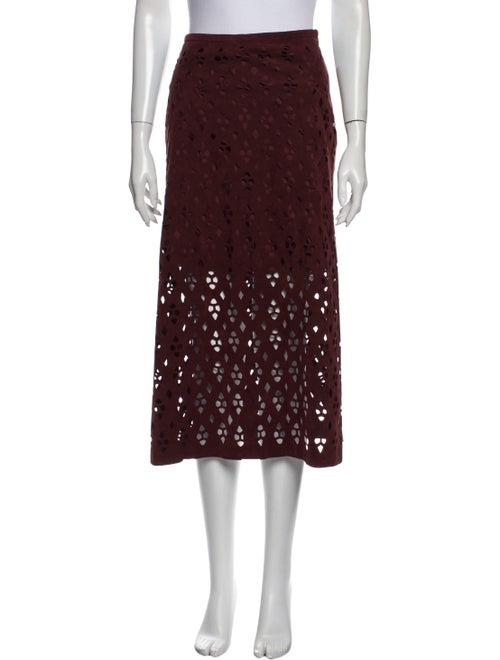 Tibi Patterned Midi Length Skirt - image 1