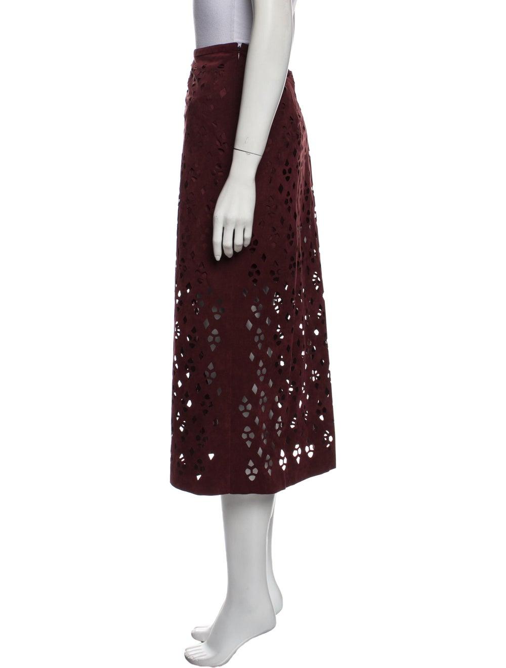 Tibi Patterned Midi Length Skirt - image 2