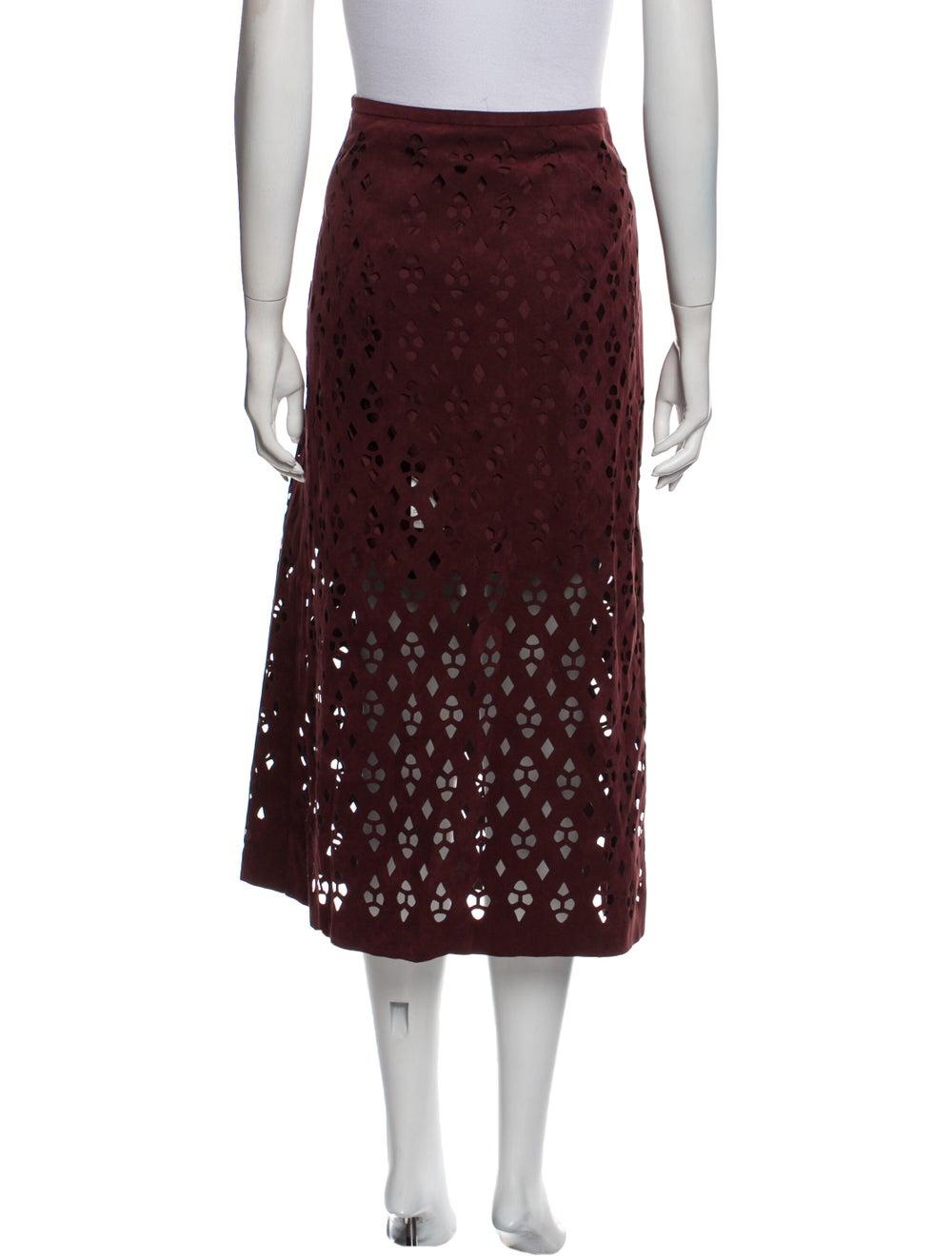 Tibi Patterned Midi Length Skirt - image 3