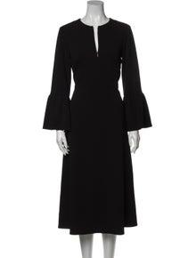 Tibi V-Neck Midi Length Dress