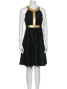 Tibi Crew Neck Knee-Length Dress