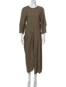 Tibi Crew Neck Long Dress
