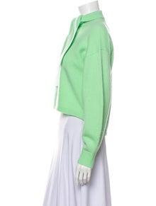 Tibi Merino Wool Mock Neck Sweater
