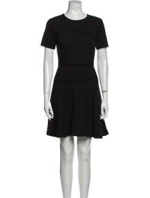 Tibi Crew Neck Mini Dress