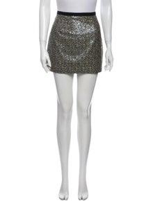 Tibi Sequin Embellishments Mini Skirt
