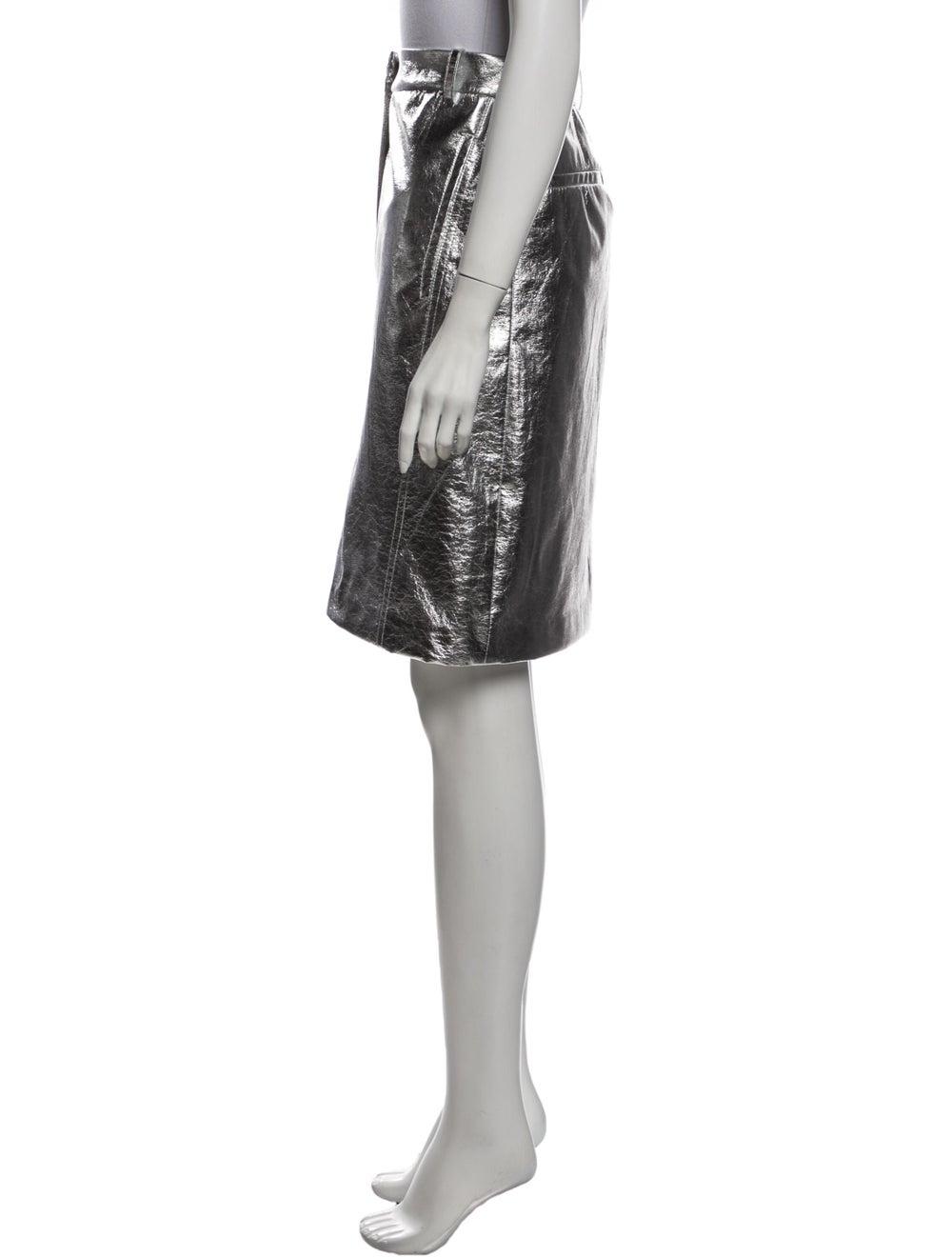 Tibi Knee-Length Skirt Silver - image 2