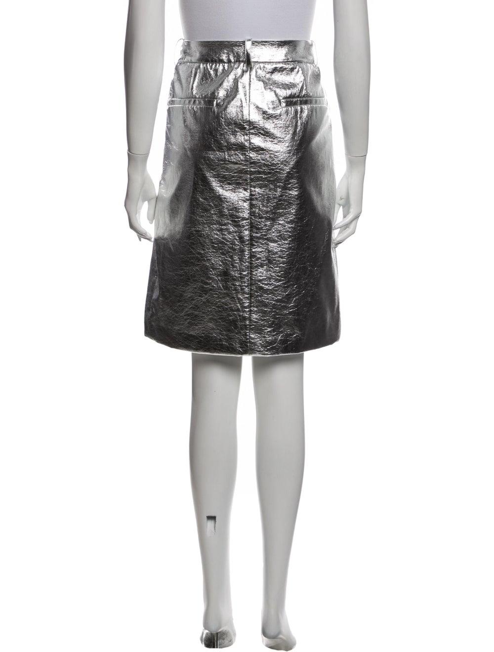 Tibi Knee-Length Skirt Silver - image 3