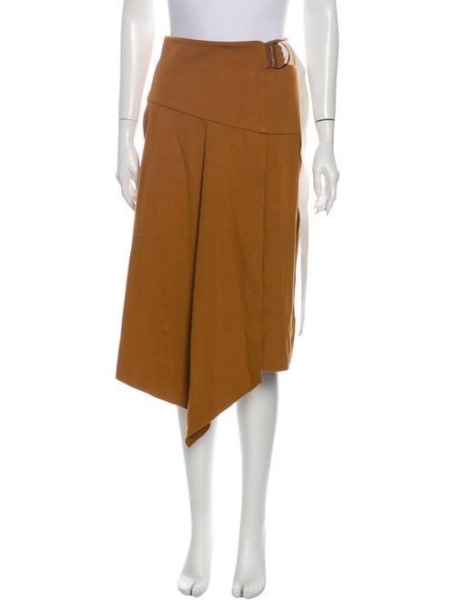 Tibi Midi Length Skirt Brown - image 1
