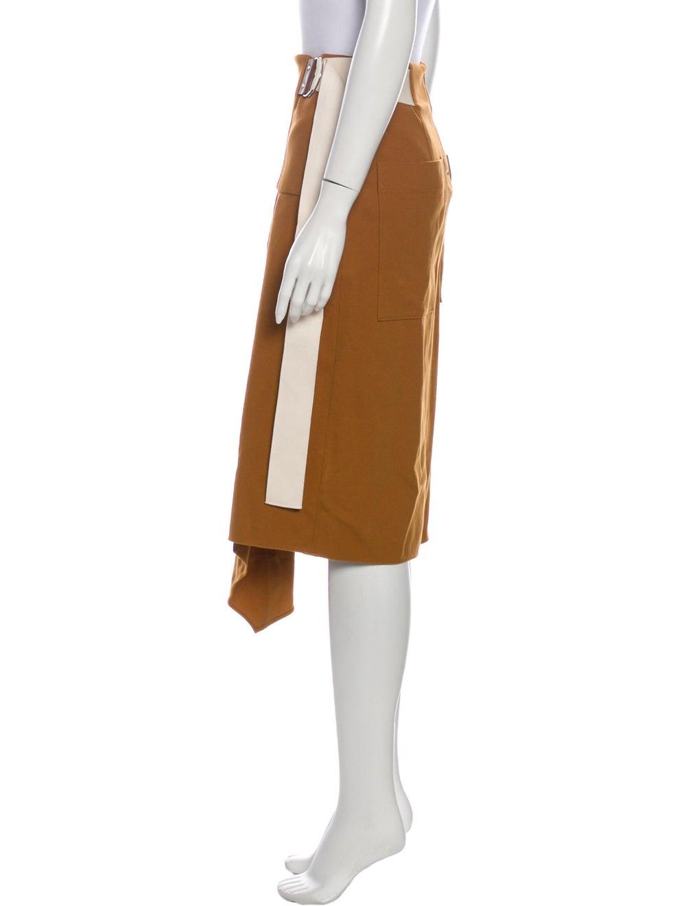 Tibi Midi Length Skirt Brown - image 2