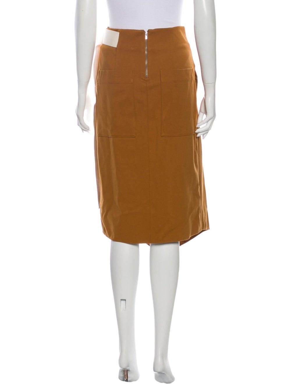 Tibi Midi Length Skirt Brown - image 3